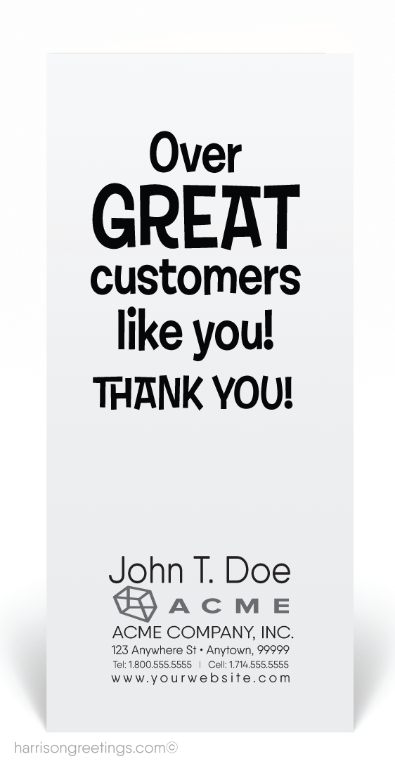 We Flip Over Your Business Thank You Card [80124] : Ministry ...