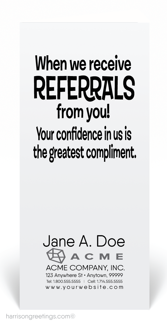 Music To My Ears Referral Card 80255 Ministry Greetings