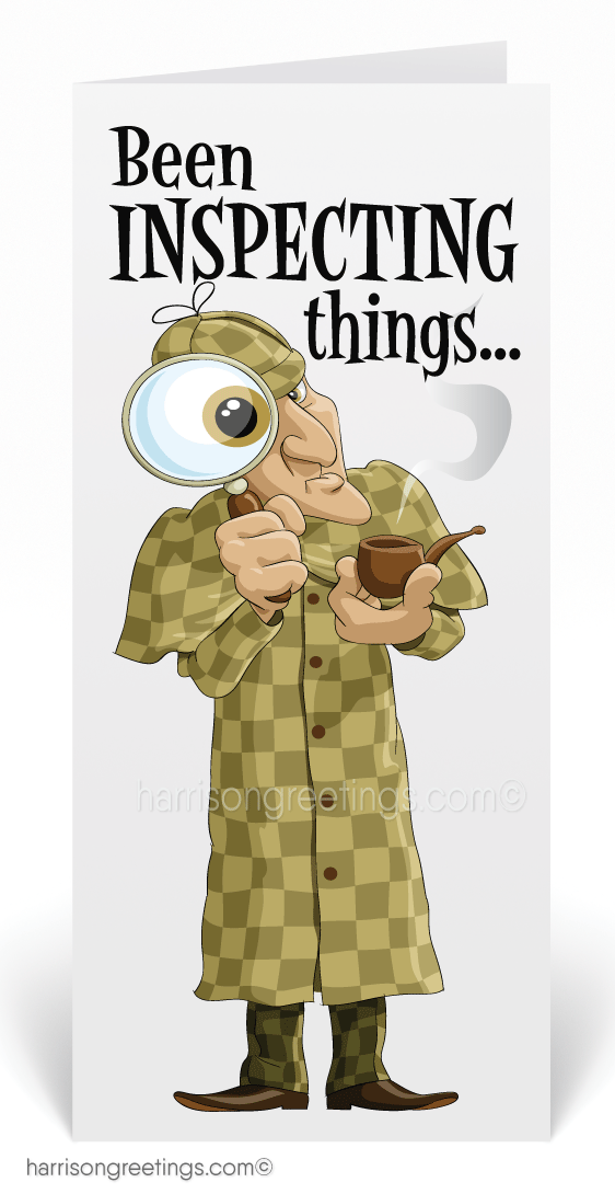 Detective Cartoon Humor Thank You Cards 80269 Ministry Greetings