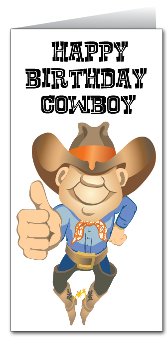 Western Cowboy Birthday Card
