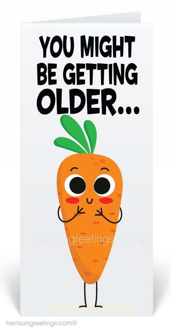 Funny Carrot Cartoon Birthday Cards 80903 Ministry Greetings