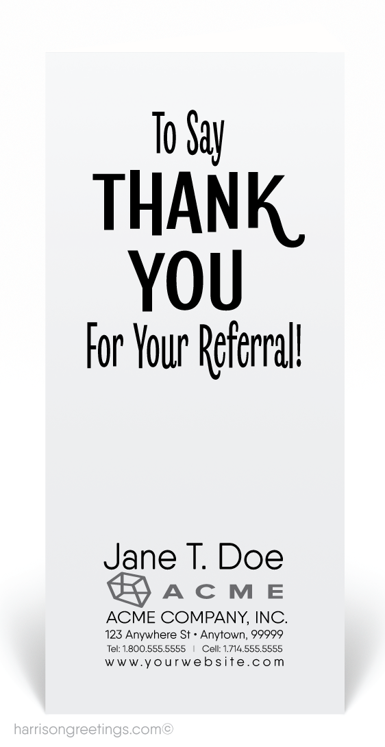 Thank You For Your Referral Cards 80912 Ministry Greetings