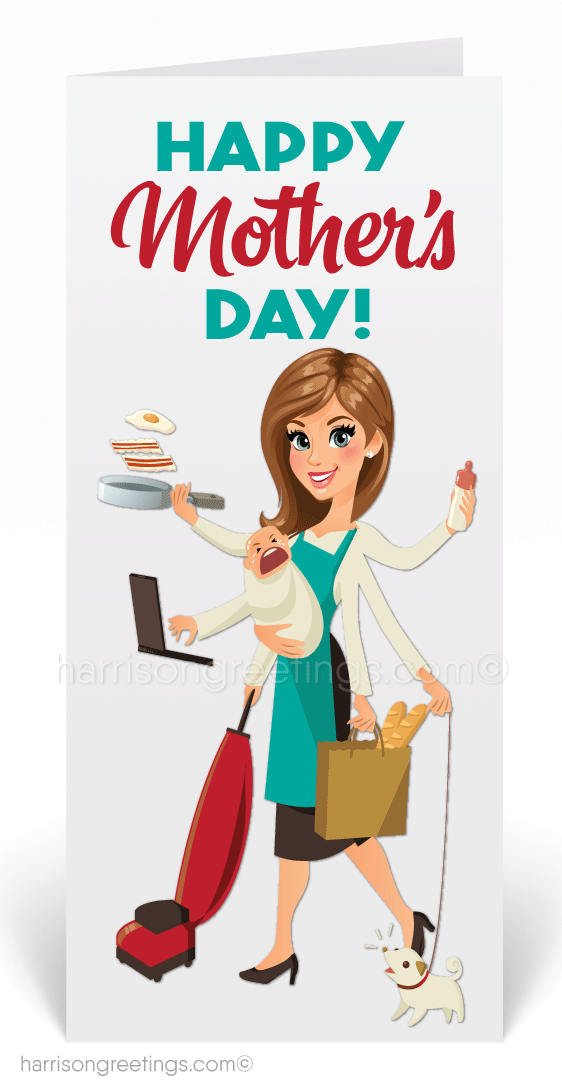Humorous Mother's Day Cards for Customers