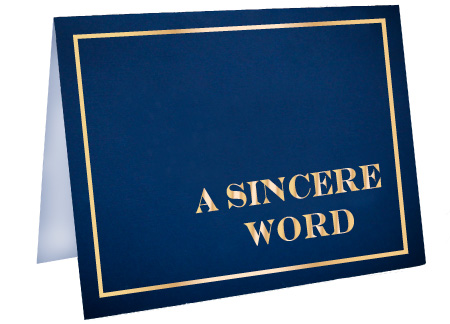 A Sincere Word Foil Card