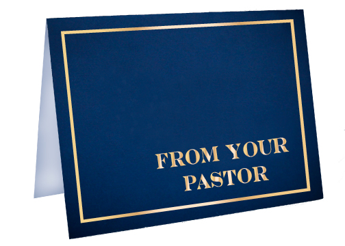 From Your Pastor Foil Card
