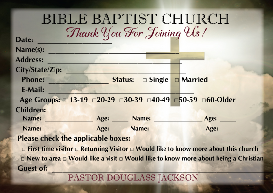 Free church visitor card templates church visitor card template church visitor welcome cards m4hsunfo