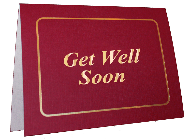 Get Well Foil-Stamped Card