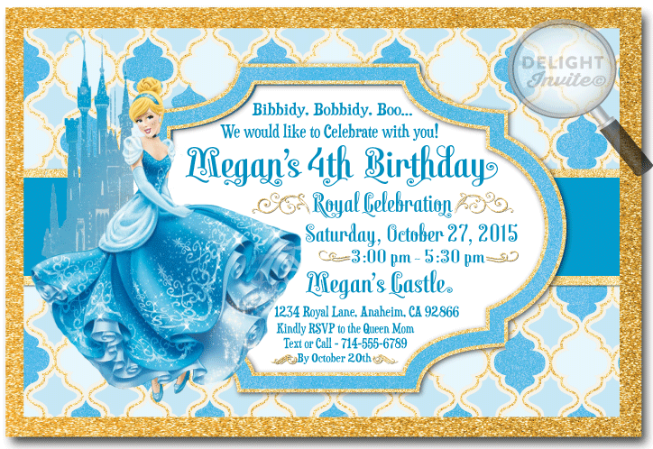Cinderella princess birthday invitations di 290 ministry cinderella princess birthday invitations bookmarktalkfo Gallery