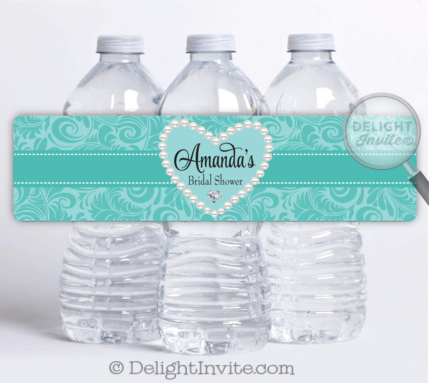 Diamonds and Pearls Bridal Shower Water Bottle Labels [DI ...