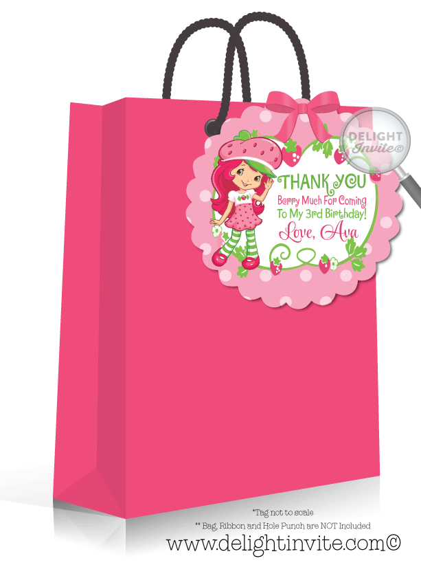 Strawberry Shortcake Birthday Party Favor Tags DI210FT – Strawberry Shortcake Birthday Card
