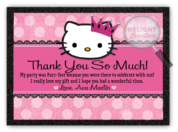Hello Kitty Thank You Cards Di 221ty Ministry Greetings
