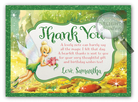 Tinkerbell Thank You Cards Di 283ty Ministry Greetings