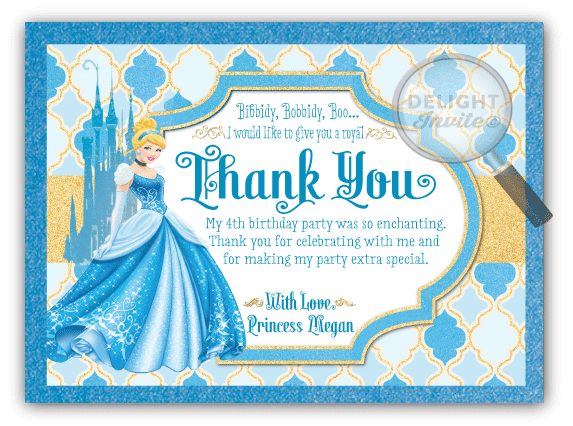 Princess cinderella thank you cards di 290ty ministry greetings princess cinderella thank you cards bookmarktalkfo Gallery