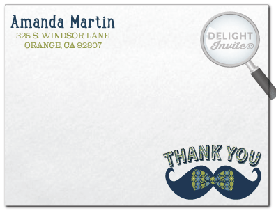 Hipster Boy Mustache And Bow Tie Baby Shower Thank You Cards Di