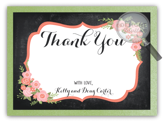25th Wedding Anniversary Party Thank You Cards Di 4603ty