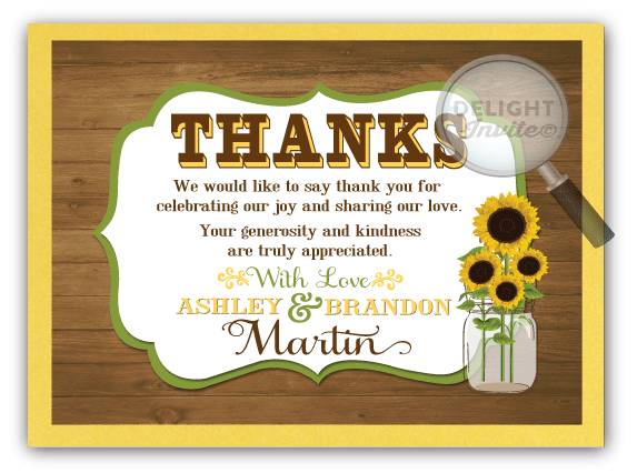 Rustic sunflower mason jar thank you card di 5003ty ministry rustic sunflower mason jar thank you card m4hsunfo Images