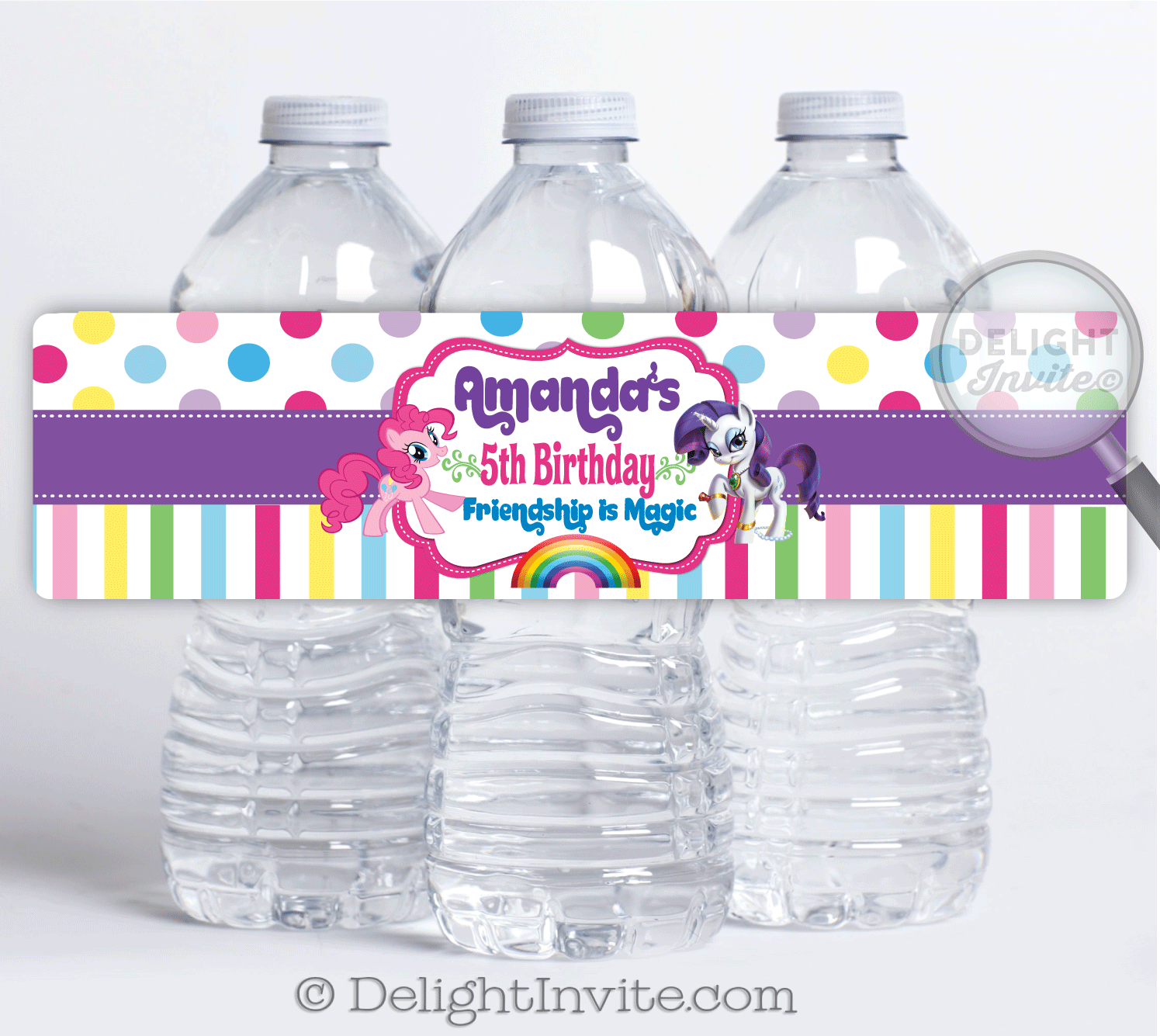 My Little Pony Rarity Water Bottle Labels [DI-651WB ...
