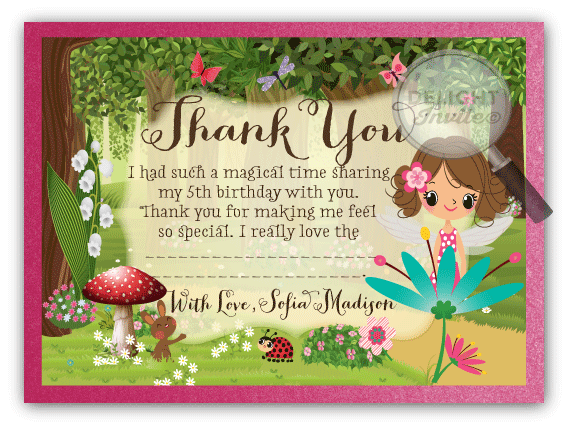 Woodland fairy thank you cards di 659ty ministry greetings woodland fairy thank you cards m4hsunfo