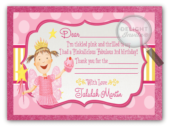 Pinkalicious Birthday Favor Tag DI663FT Ministry Greetings – Pinkalicious Birthday Invitations