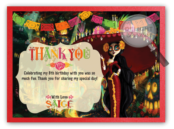 Day of the dead book of life thank you cards di 686ty ministry day of the dead book of life thank m4hsunfo