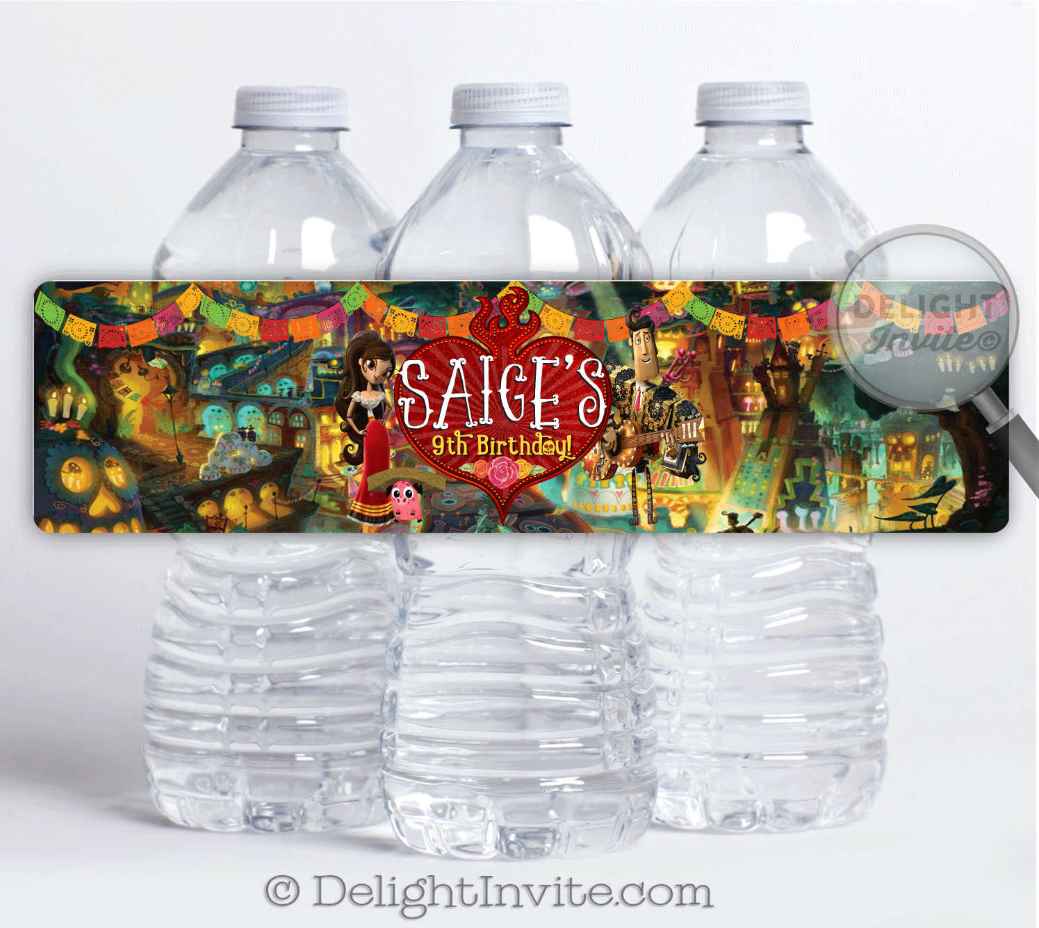 Day of the dead book of life birthday water bottle labels di 686wb day of the dead book of life birthday water bottle labels m4hsunfo