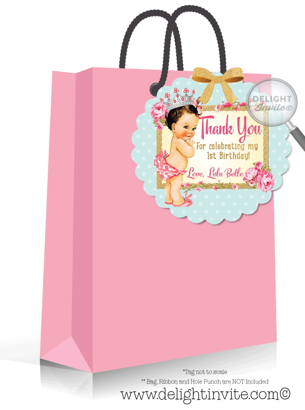 Vintage Baby 1st Birthday Favor Tags