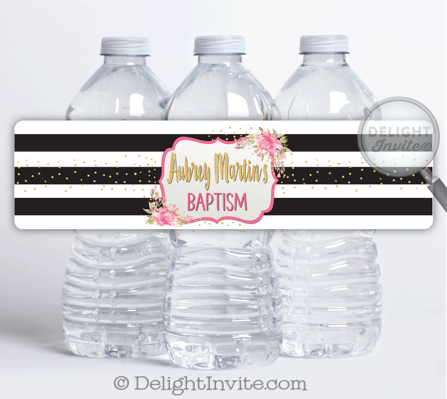 Shabby Chic Vintage Baptism Water Bottle Labels [DI-819WB ...
