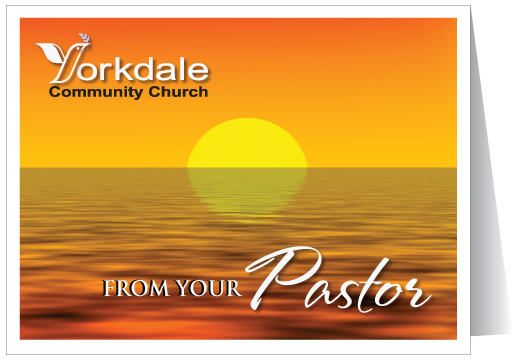 Welcome from your Pastor Card