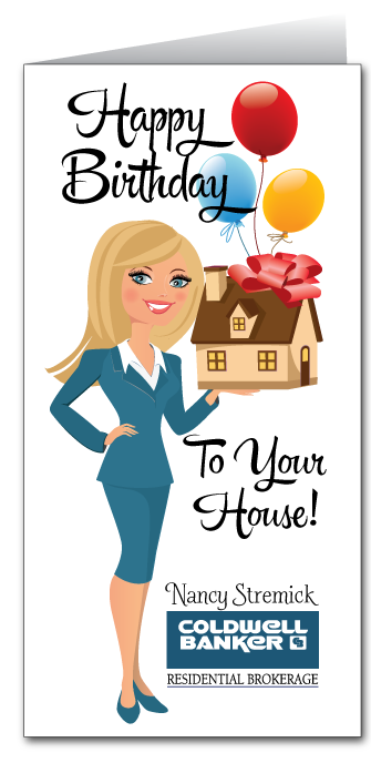 Happy Birthday to Your House Real Estate Card