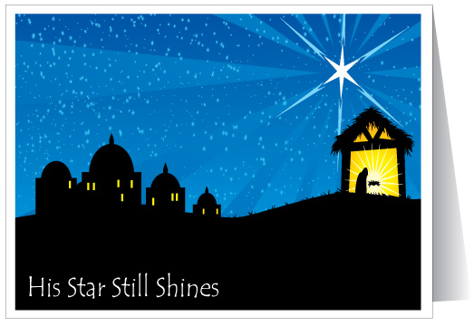 His Star Still Shines Christian Card