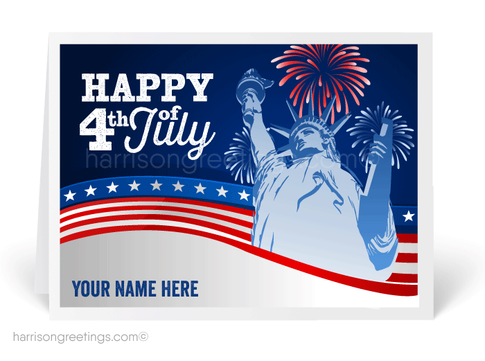 Statue Of Liberty July 4th Greeting Cards
