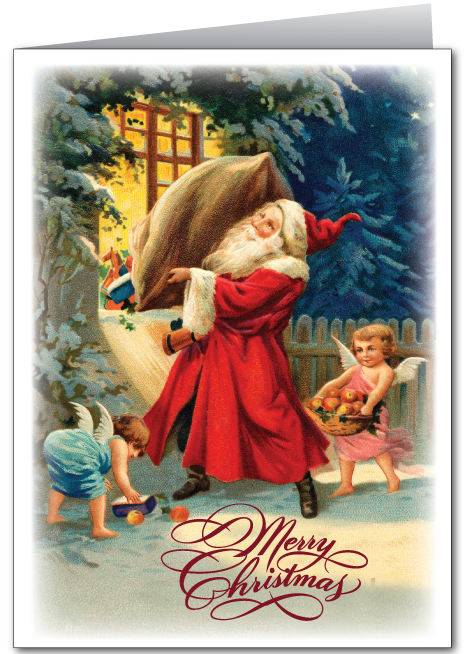 Old Fashioned Vintage Santa Card