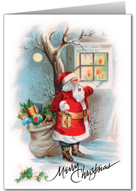 Old Fashioned Vintage Santa Claus Card