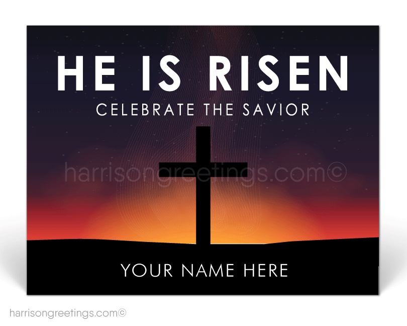 He Is Risen Christian Easter Postcard