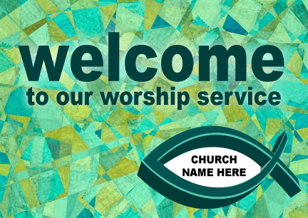 Welcome to Our Church Postcard