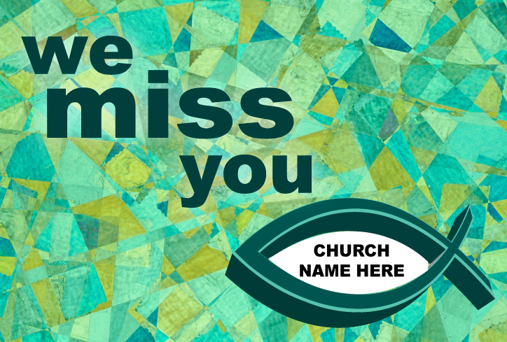 Custom We Miss You Postcard
