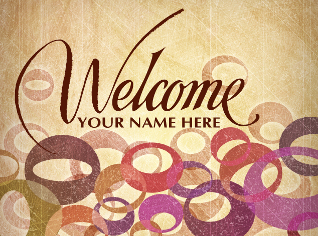 Welcome Logo Church Postcard