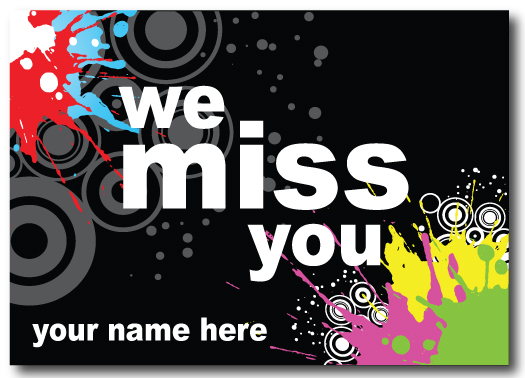 We Miss You Postcard