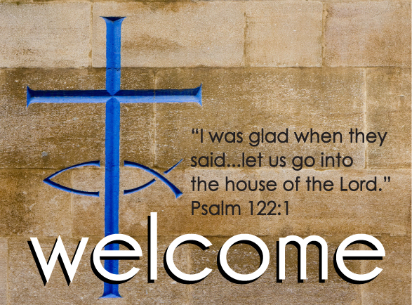 Welcome pew cards ministry greetings christian cards church welcome church visitor postcard m4hsunfo