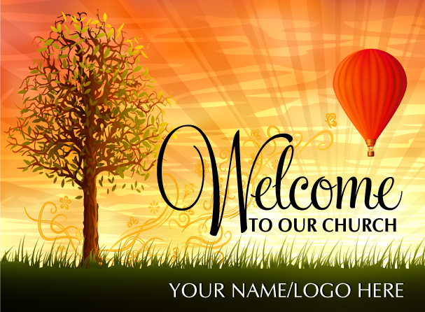 Visitor Welcome Church Postcard
