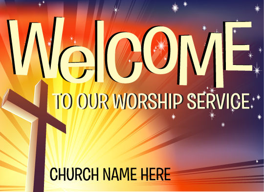 Welcome to Our Worship Postcard
