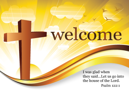 Welcome To Our Church Logo Postcard PC7096 Ministry