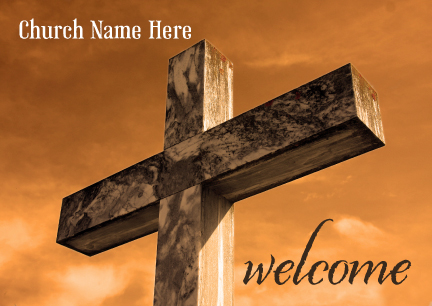Welcome postcards ministry greetings christian cards church welcome to our church logo postcard m4hsunfo