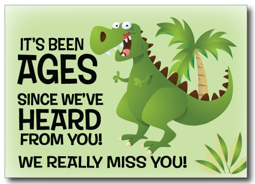We Miss Your Business Postcard