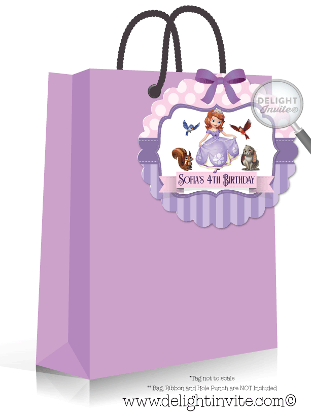 Sofia The First Favor Tag Di 267ft Ministry Greetings Christian