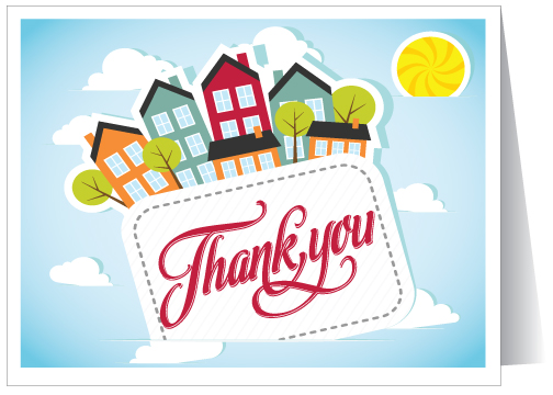 Real estate thank you cards juvecenitdelacabrera real m4hsunfo