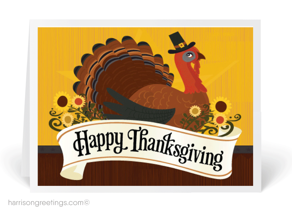 how to write a thanksgiving card for business