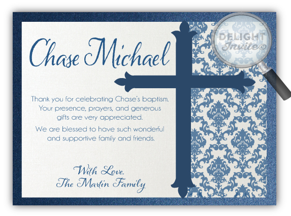 Boy Baptism Thank You Cards Di 814ty Ministry Greetings Christian