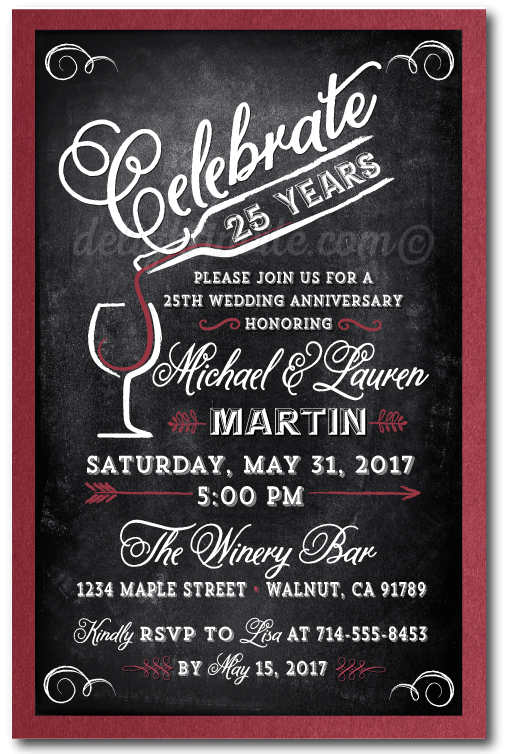 Wine themed anniversary party invitations di 470 ministry wine themed anniversary party invitations stopboris Images