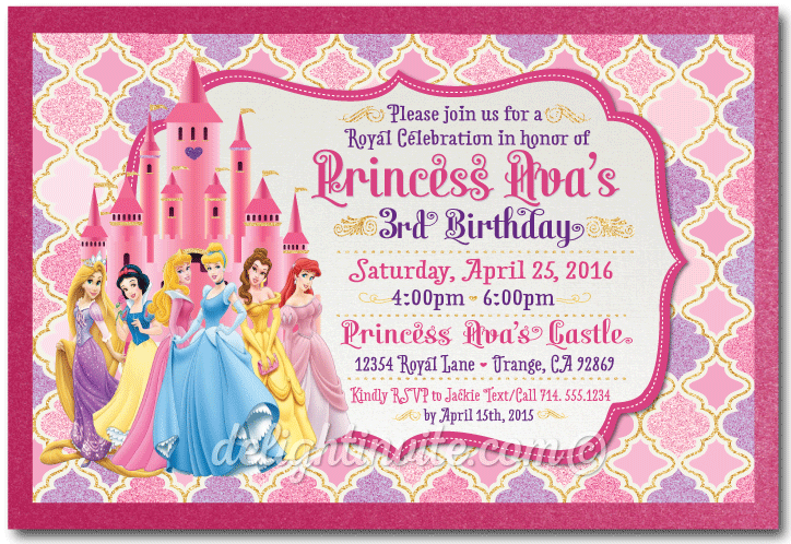 Disney princess birthday invitations di 229 ministry greetings disney princess birthday invitations stopboris Images
